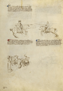 Equestrian Combat with Lance and Dagger