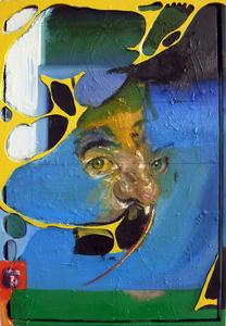 Head in Landscape (Yellow Screen)