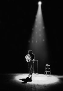Bob Dylan Performing in Spotlight, Princeton, NJ