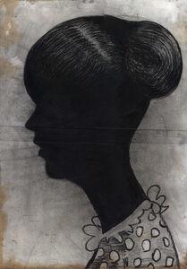 Girl in Polkadots (Black Silhouette)