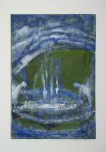 Untitled (green, blue and white)