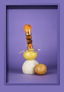 """Citrus, glass and ceramic on purple"""