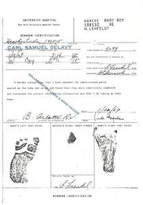 Birth Certificate of My Son (collaboration Linda & Hans Haacke)