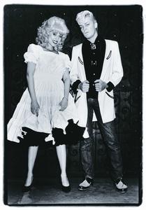 On the Street, Katy K and John Sex, NYC, 1981