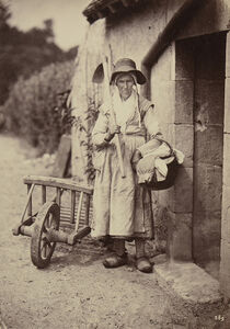 Old Peasant Woman with Hoe and Basket