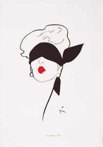 Rouge Baiser - Red Lipstick and Blindfold - Fashion