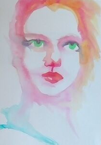 Woman's Face in Pink