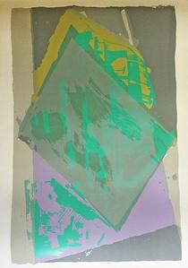 Abstract Expressionist Silkscreen
