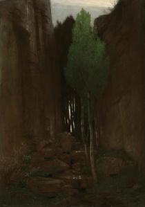 Quell in einer Felsschlucht (Spring in a Narrow Gorge)