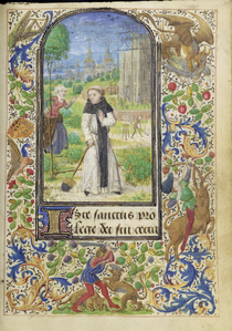 Saint Fiacre and the Shrew Houpd'e (Becnaude or Baquenaude)