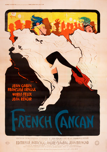 French Cancan Film Poster - Jean Renoir - Dancing - Extra Large