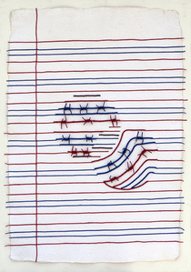 Ruled Paper (red, blue, white)