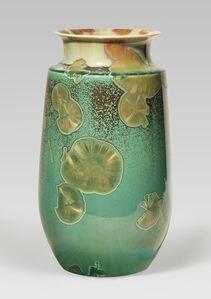 Gourd vase, traced ink splash glaze
