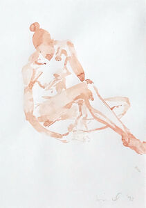 Untitled (Pink Girl Sitting)