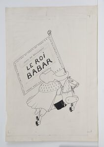 Cover illustration for Babar the King