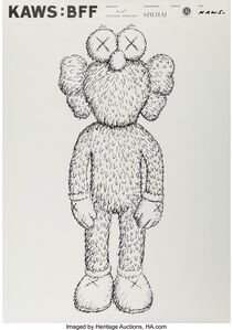 KAWS: BFF, exhibition poster