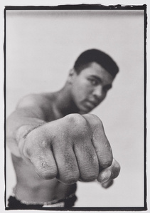 Muhammad Ali Showing off his Right Fist