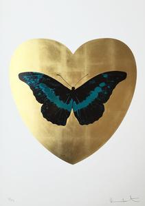 I Love You - Gold Leaf/Black/Turquoise