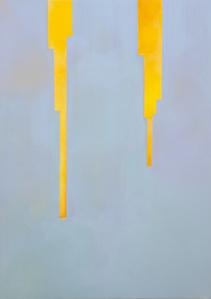 In Absentia (Luminous Orange Yellow - Blue Grey)