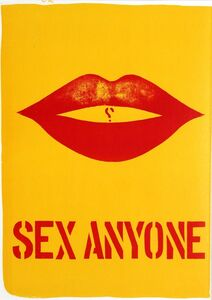 SEX ANYONE from 1 Cent Life Portfolio (Sheehan, 31) - with Pierre Alechinsky lithograph on the reverse side