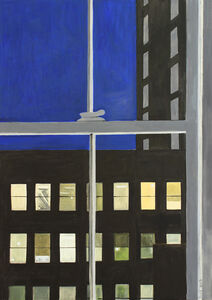 "Lois Dodd"",""Back of Men's Hotel (from My Window)"