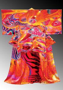 電腦和服誌CG Kimono_數位印刷、布料_Digital-print, Fabric_190 x 170 x 10 cm_