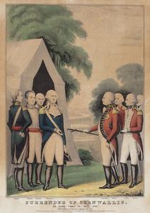 Surrender of Cornwallis at Yorktown, Va., Oct. 1781