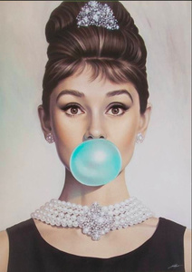 Audrey Tiffany Blue Bubble Gum - The Hand Embellished Edition