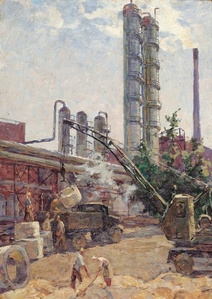Storing wheat in the silos