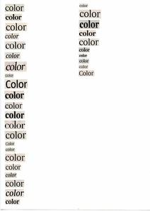 Llistats. Colores
