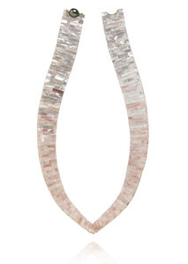 Mother of Pearl Tile V Necklace