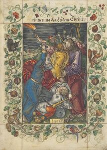 The Betrayal of Christ, from: The Engraved Passion (B., M., Holl. 5; S.M.S. 47)