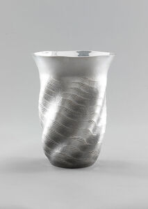 "Silver Vase ""Sea Breeze"""
