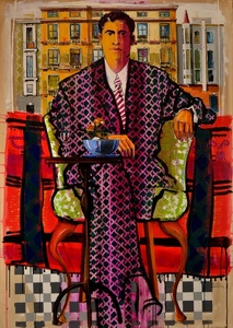 Mr. Angel Arranz's portrait, at his office in Barcelona / Spain