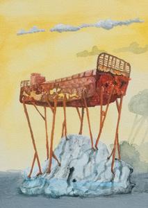 Scuttled Icelandic Herring Ship