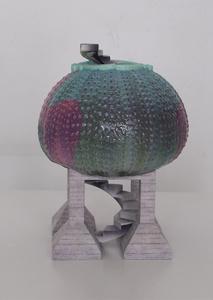 Sea Urchin Domino (Bibelot)