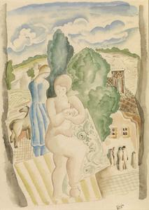 Jeune femme à l'entrée du village