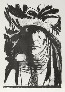 Spies on his Enemies - Crow and Chief American Horse - Oglalla Sioux (two works)