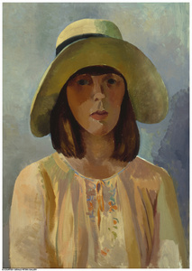 Portrait of Edith with Hat