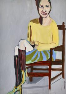 Yellow Sweater and Knee Socks