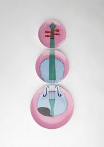 Violin plates (pink)