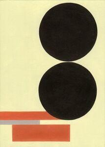 Postcards to AZ: mit zwei schwarzen Scheiben, 1930