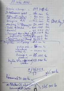Expenses Notebook page 203