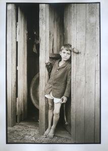 São Paulo, boy at the door, 1974