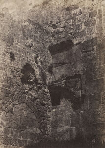 Jérusalem. Enceinte du Temple. Porte Herodienne (Jerusalem. Temple wall. Herodian gate)