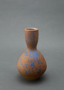 Bottle, blue stardust glaze