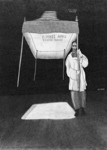 Schirm gegen Nihilismus / Umbrella against Hihilism (from the series: Die gezeichneten Ausstellungen)