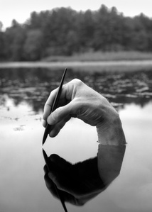 Self-portrait, Fosters Pond, Andover, Massachusetts
