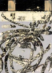 pastel oleo y cera de abeja y esmalte sintetico sobre papel