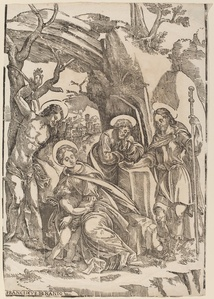 The Holy Family with Saint Sebastian and Saint Roch